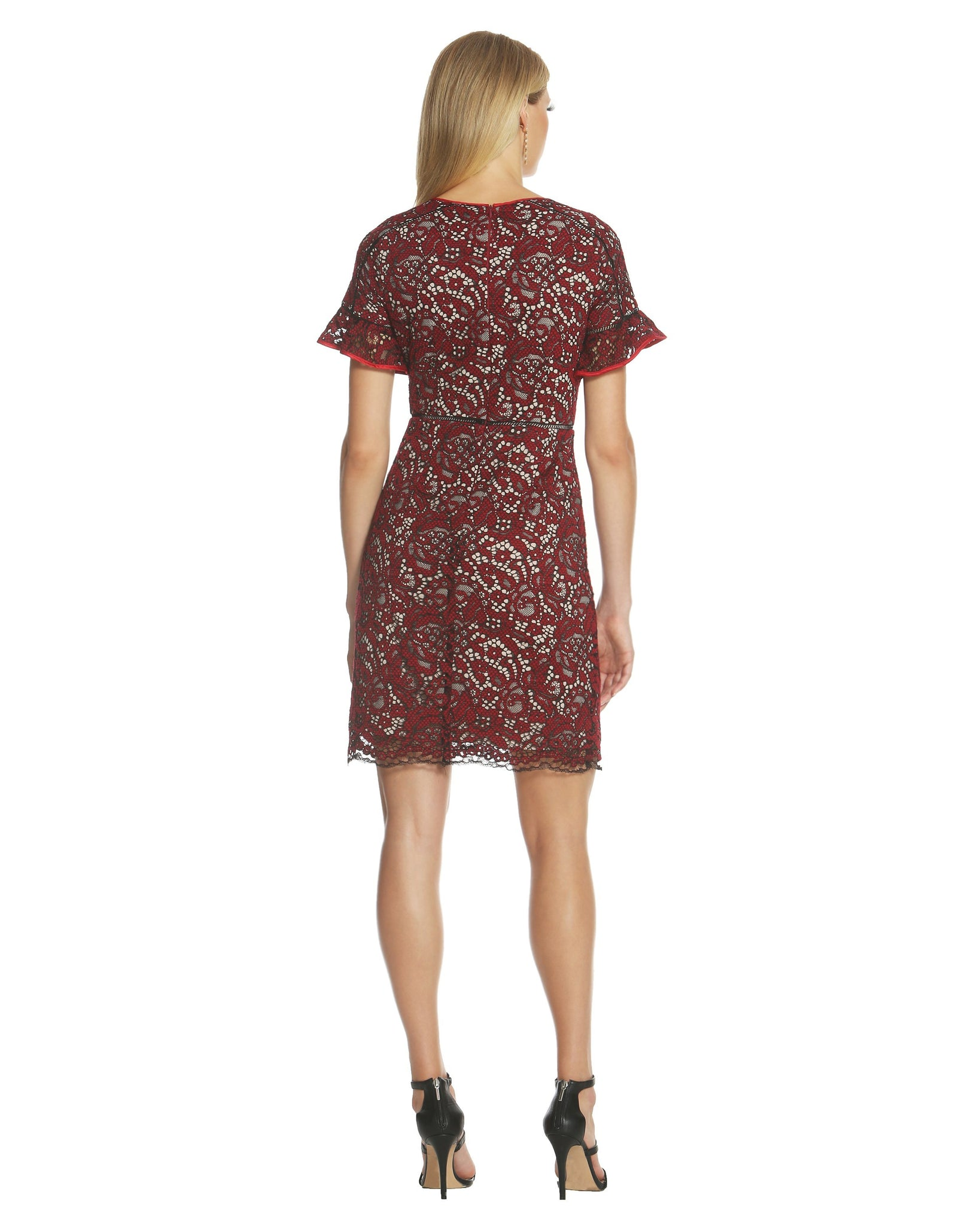 Flutter Sleeve Lace Dress – Shani Collection