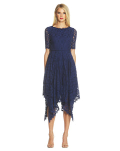 Handkerchief Lace Dress Blue - 1