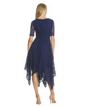 Load image into Gallery viewer, Handkerchief Lace Dress Blue - 2