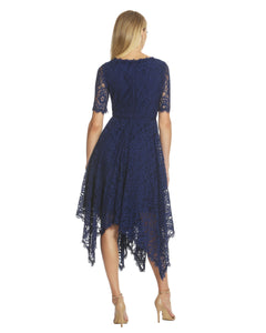 Handkerchief Lace Dress Blue - 2