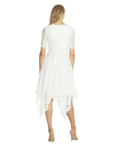 Handkerchief Lace Dress White - 2