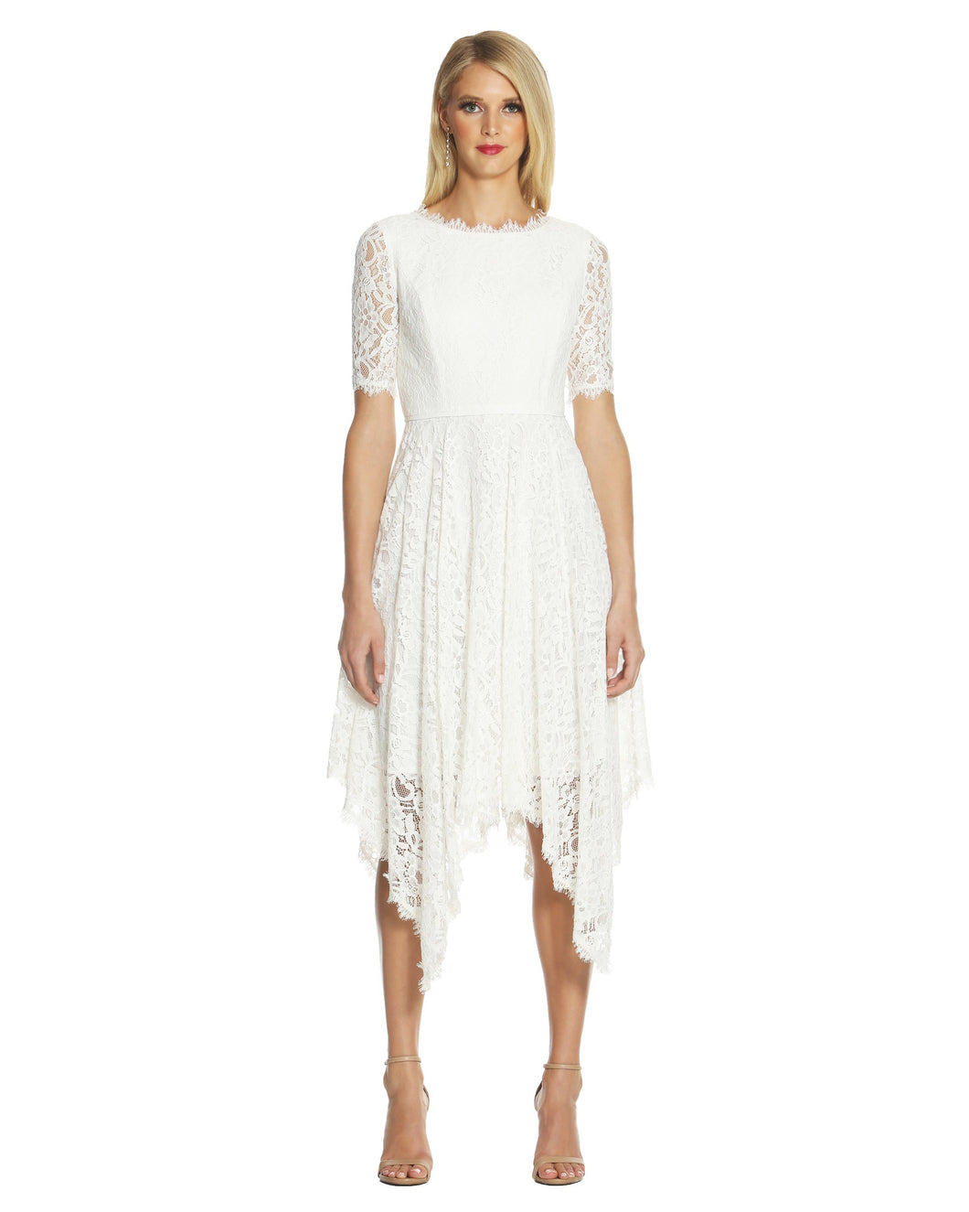 Handkerchief Lace Dress White - 1