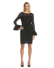 Load image into Gallery viewer, Ruffle Sleeve Lace Dress