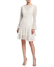 Load image into Gallery viewer, Double Ruffle Lace Dress in White