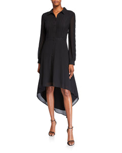 Hi-Lo Georgette Shirt Dress