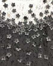 Load image into Gallery viewer, Handkerchief Floral Applique Lace Dress Detail