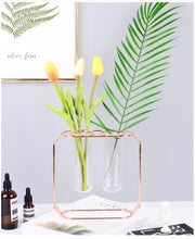 Load image into Gallery viewer, Glass and Metal Vase / Propagation Station