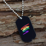 Gay Pride Dog Tag Necklace