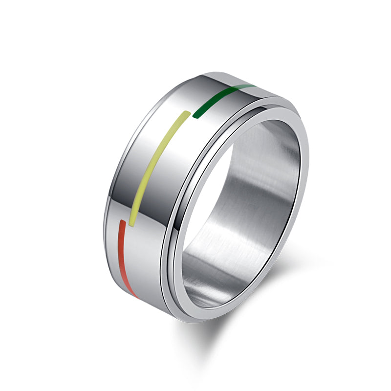 8MM Wide LGBT Pride Stainless Ring