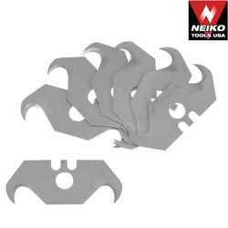 10 Pcs Twin Hook Utility Roofing Carpet Cutting Blades Roofer's Knives - JABETC