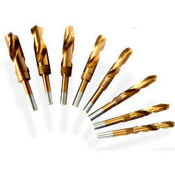8 Piece Titanium Silver Deming Drill Bit Set - tool