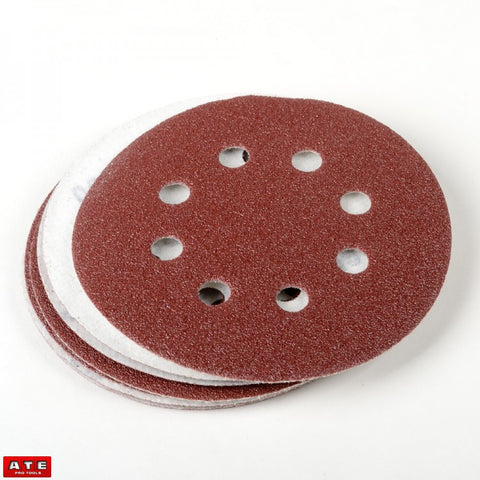 "10pcs 60 Grit 5"" Hook and Loop Sanding Discs with Dust Holes - JABETC.COM"