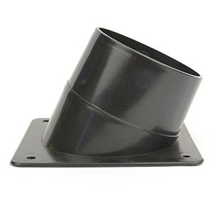 "4"" Angled Dust Collector Port For Router Table - tool"