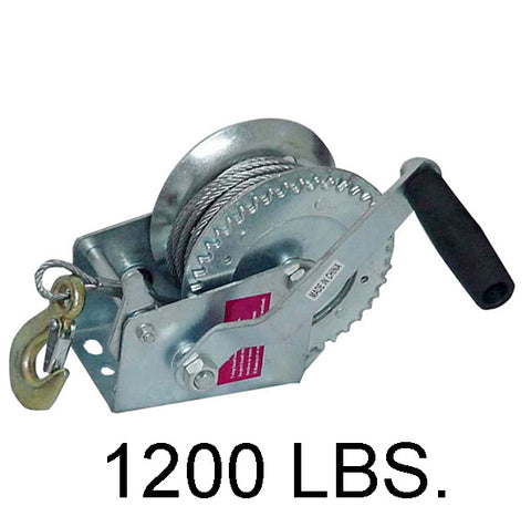 1200 LB Hand Crank Steel Wire Winch - tool
