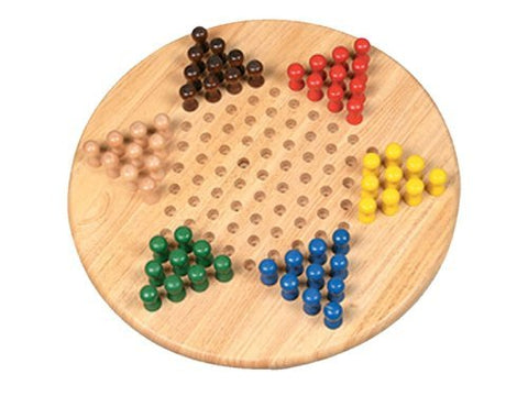 XL Jumbo Chinese Checkers Wooden Board Game
