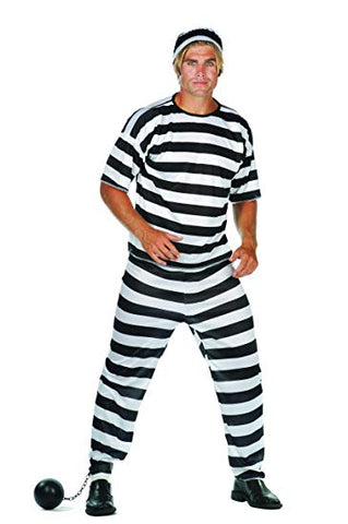 Men's Jail Suit Costume - tool