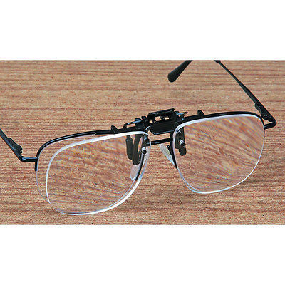 Clip On Flip Up Magnifier Eyeglasses - JABETC