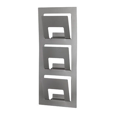 Mid Century Modern Style Steel Metal Wall Mount Mounted Magazine Rack Holder - JABETC