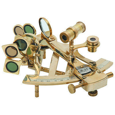 Polished Brass Marine Sextant - tool