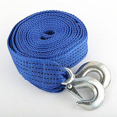20 Foot Nylon Web Tow Strap Hook Towing Webbing for Car Suv Vehicle - JABETC