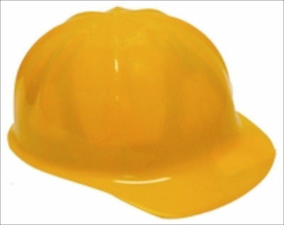 Child's Kids Size Yellow Construction Hard-Hat Hardhat Costume Outfit - tool