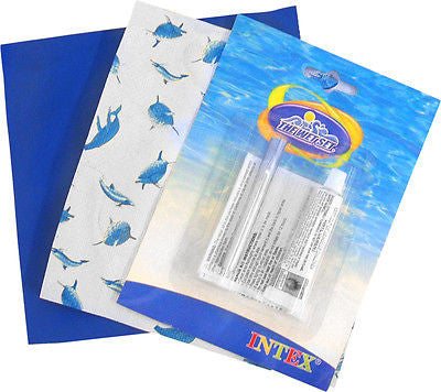 Repair Patch Kit for Intex Swimming Pool Clear Vinyl Strong Cement Fix - JABETC