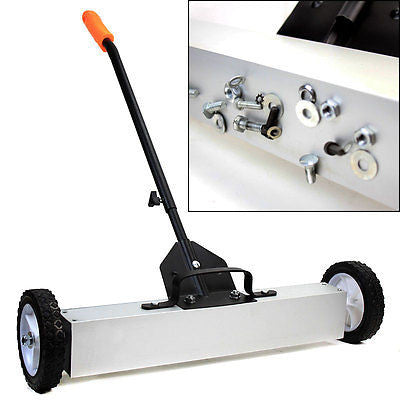 "36"" Magnetic Push Sweeper Metal Steel Pick Up Sweeping Floor Tool Broom Magnet - tool"