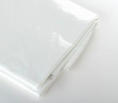 10 x 12 Foot White Outdoor Tarp Cover Shade Cover Shade Sun Sunshade Canopy - JABETC - 1