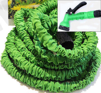 75 Foot Expanding Shrinking Retracting Water Watering Garden Hose with Nozzle - tool