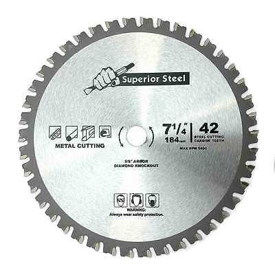 "7 1/4"" Carbide Tip for Ferrous Metal Steel Cutting Circular Saw Blade - tool"