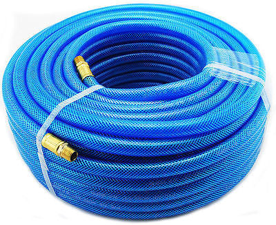 "3/8"" Diameter 100 Foot Ultra Super Flex Air Compressor Hose Pneumatic Flexible - JABETC"