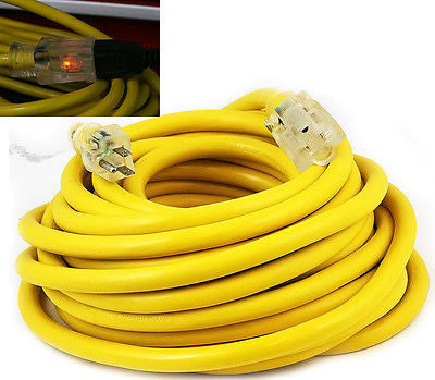 100 Foot Yellow Electrical Extension Cord - tool