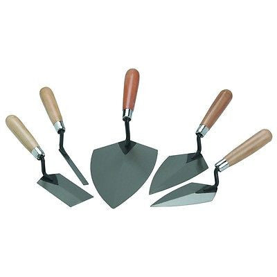 5 Piece Concrete Cement Hand Mason Masonry Margin Trowel Finishing Finish Tool Set - tool