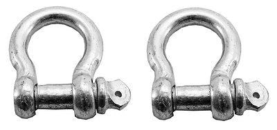 "2 Piece Pack 5/16"" Steel Bow Shackle Clevis Screw Pins Anchor Hook Point Pin - tool"