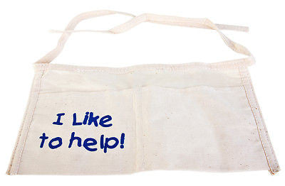 Child Size Kid's Size I Like to Help Cotton Work Tool Cleaning Pocket Apron - tool