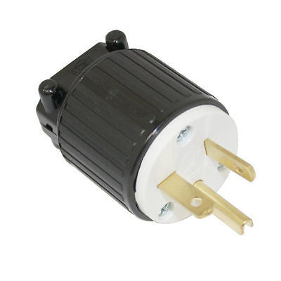 220 - 250 Volt Straight Sideways Electric Plug 3 Wire, 20 Amps, 250V, Nema 6-20P - tool