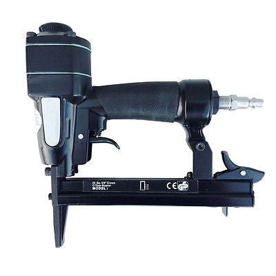 "22 Gauge 3/8"" Wide Crown Air Powered Upholstery Fabric Staple Gun Power Tool - tool"