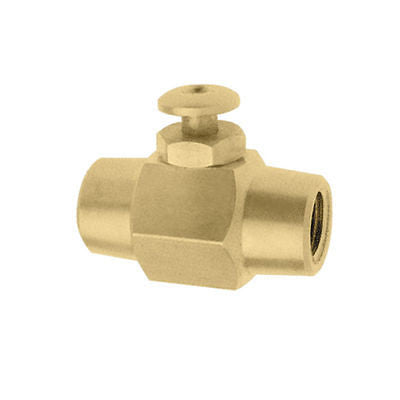 "Push Button Brass Air Control Shut On Off Valve Switch 1/4"" NPT Air or Liquid - JABETC"