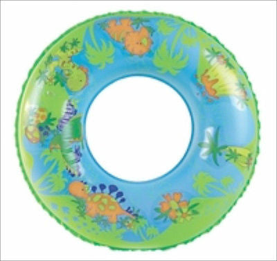 "24"" Round Dino Dinosaur Design Pool Tube Toy for Kids Jungle Swimming Swim - tool"