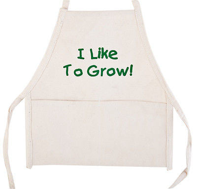 Child Size Kid's I Like to Grow Cotton Garden Gardening Apron Smock Tool Belt - tool