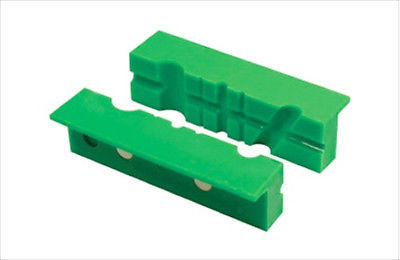 "4"" Plastic Magnetic Soft Jaw V Groove Pads for Metal Vise - JABETC"