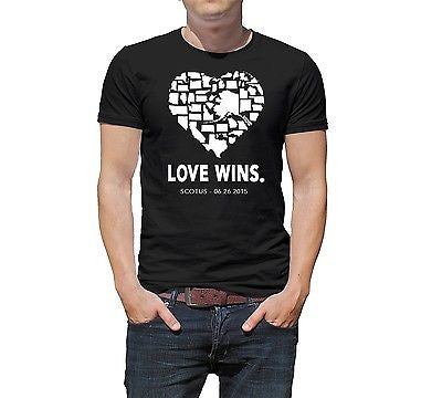 "Mens ""Love Wins"" T-Shirt Gay Pride Marriage Supreme Court SCOTUS T-Shirt - tool"