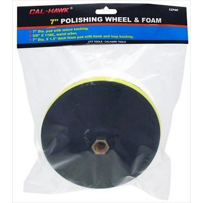 "7"" Buffing Wheel and Foam Back Backing Pad for Electric Car Auto Polisher - JABETC"