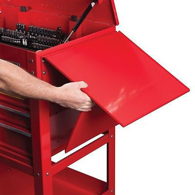 Fold Up Down Side Tray Work Shelf for Mechanics Mobile Tool Box Rollaway Storage - tool