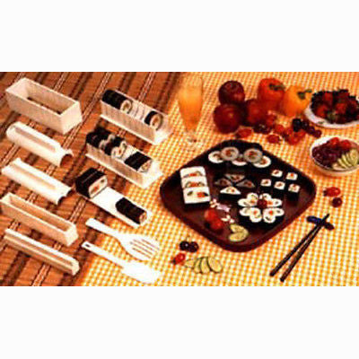 Home Sushi Master Maker Rice Form Former Making Shaper Tool Kit Set with Knife - tool