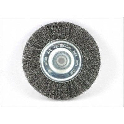 "6"" Steel Wire Brush Wheel for Bench Grinder - tool"