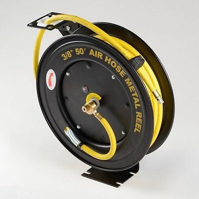 50 Foot Retractable Air Hose Reel Auto Wind Up Retracting - tool