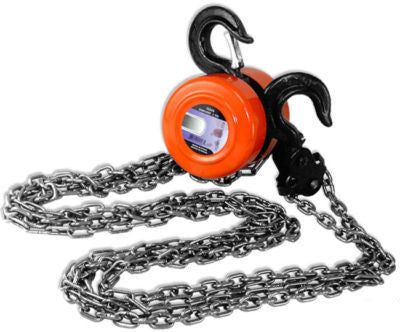 4000 LB 2 Ton Manual Operated Chain Fall Engine Hoist Block and Tackle Lift Tool - JABETC