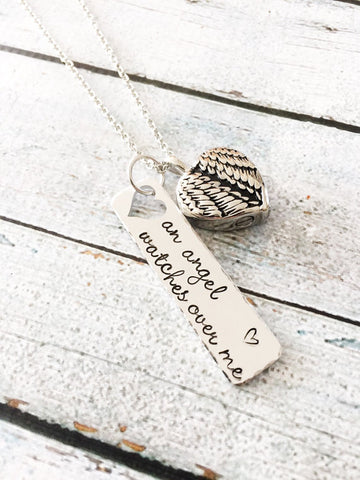 Urn necklace - Hand stamped necklace - Loss - tool
