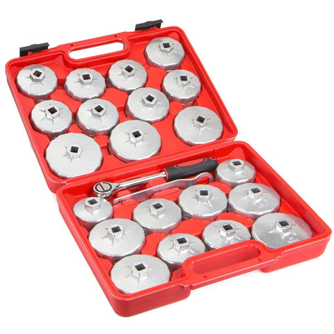 Aluminum Cup Type Oil Filter Cap Wrench Set Socket Removal - tool